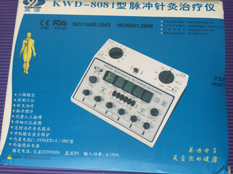 6 Channels Tens UNIT. Multi-Purpose Acupuncture Stimulator Health Massage Device. 808I Electrical nerve muscle stimulator  цены