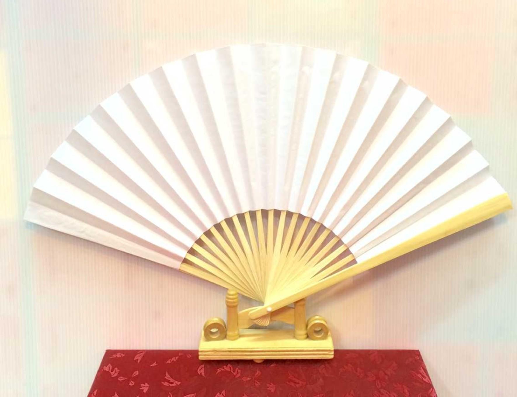 200pcs blank white paper hand fan perfect party favor or wedding ...