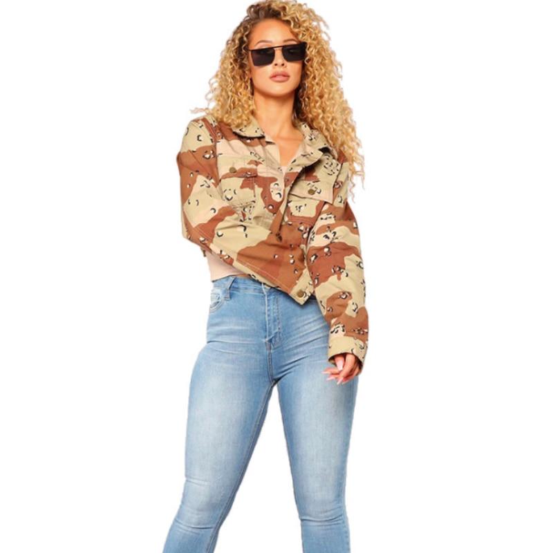 Jacket Women Basic Jacket Female Warm Coat Women Clothes Casual Feminino Coats Field Clothes Jacket Outwear Camouflage Thin Jack