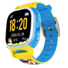 Дети Милые Tencent QQ Часы Телефон Безопасности Удаленного Локатор GPS SOS LBS SMS Smart Watch Анти Потерянных Детей Smartwatch Сигнализации желтый