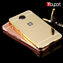 For Microsoft Lumia 650 Dual SIM case Gold Plated Armor Aluminum Metal Frame + Mirror Acrylic Back Cover Case For Microsoft 650