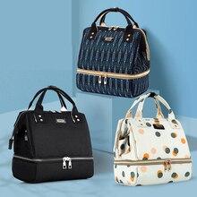 Сумка для детских подгузников с USB интерфейсом, рюкзак для мам и мам, дизайнерская сумка для подгузников с термоизолированным карманом для бутылочек