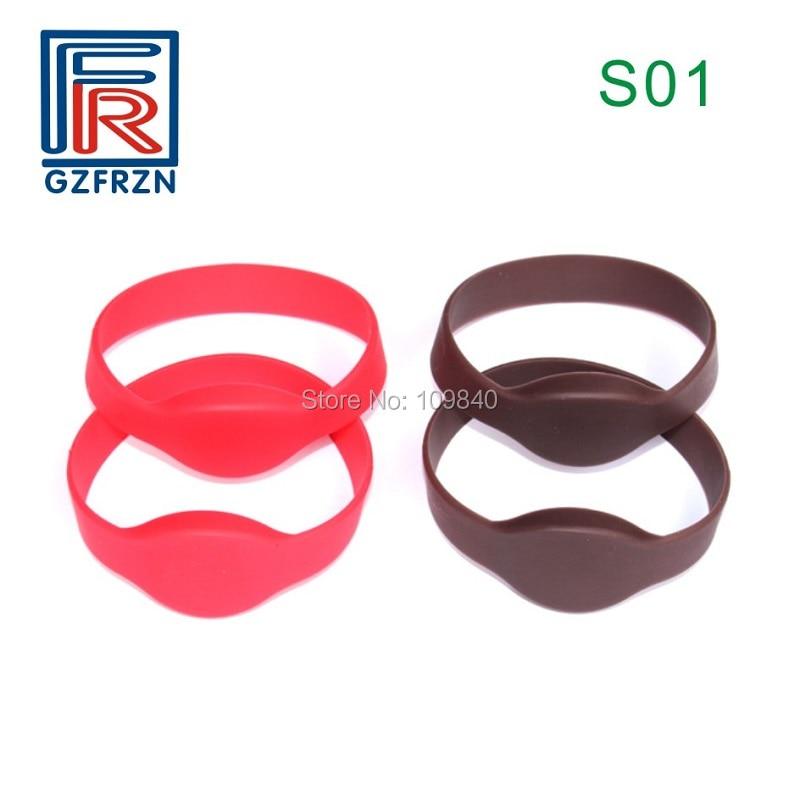 Proximity Waterproof Bracelet For Sauna Fitness Gym em4100 Sunny 100pcs/lot S01 Style 125khz Rfid Silicone Wristband Tk4100