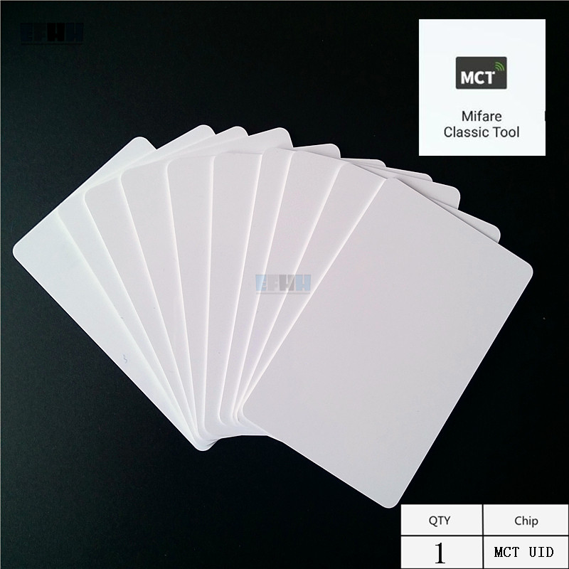 New Version 13.5MHZ UID Changeable S50 1K Andriod Phone APP MCT Modify UID NFC Card Block 0 Rewritable RFID Card Magic Card