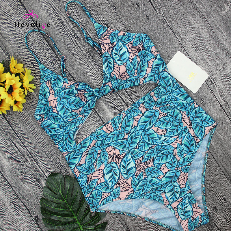 New! Print Sexy Monokinis Swimwear Women Padded Push Up Swimsuit One Piece Swim Bathing Suits High Waist New Beach Sexy Trikini