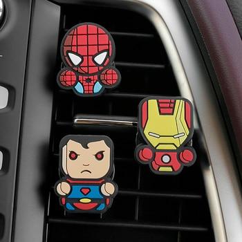 Car accessories cartoon air freshener Marvel movie Avengers hero characters random hair perfume car decoration 1