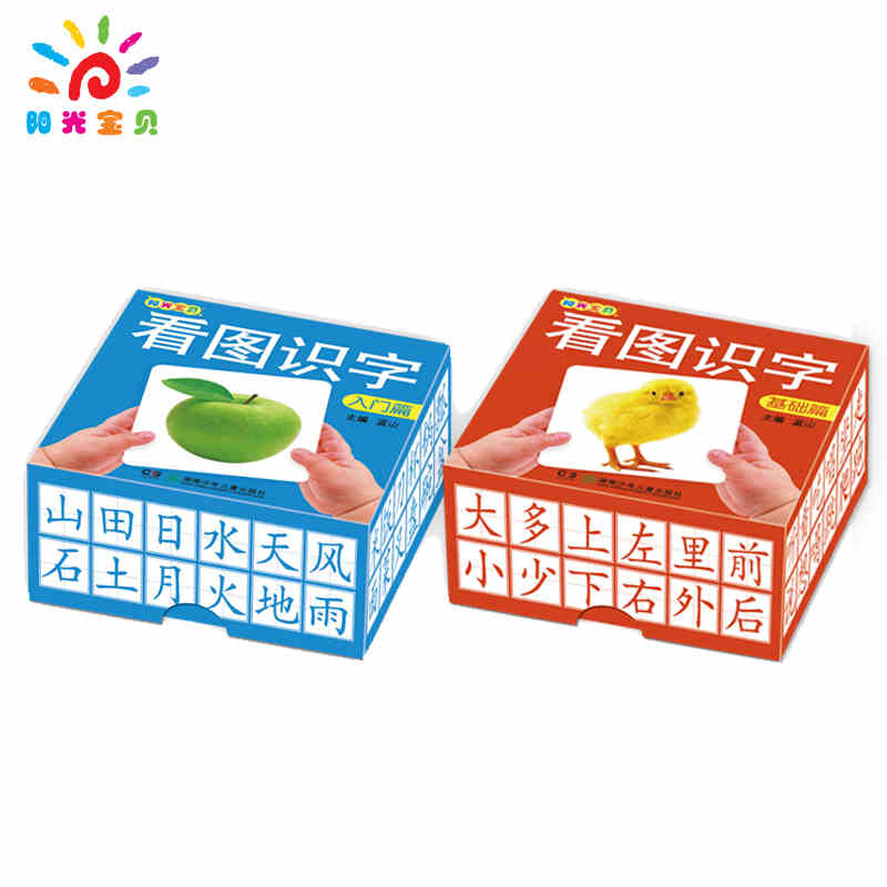Kids Toddlers Babies Chinese Figure Literacy Card Learning Cards Books For Children Age 1-6 ,2 Boxes/set, 216 Cards In Total.