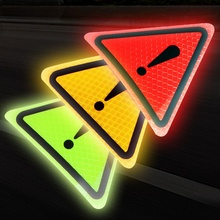 Universal Reflective Stickers Car Bodywork Decorative Paster Motorcycle Triangle Warning Label DIY Reflective Warning Sticker yjzt 12cm 10 7cm danger biohazard sign warning mark personality car sticker reflective motorcycle parts c1 7558