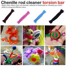 100Pcs/set Educational Toys  Materials Chenille Children Sticks Puzzle Craft Colorful Pipe Cleaner Handmade DIY Toys цена 2017