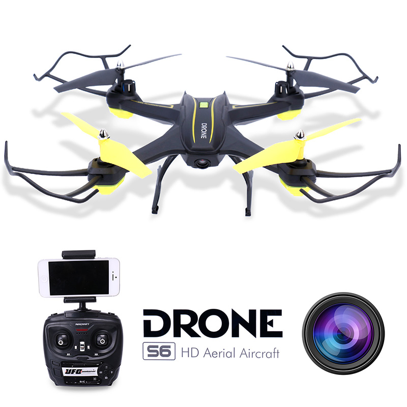 RC Quadcopter Drone with Camera HD 0.3MP 2MP WiFi FPV Camera Drone Remote Control Helicopter UFO Aerial Aircraft S6 cheerson cx 10wd cx10wd rc drone wifi hd camera video fpv remote control toys uadcopter helicopter aircraft plane children gift