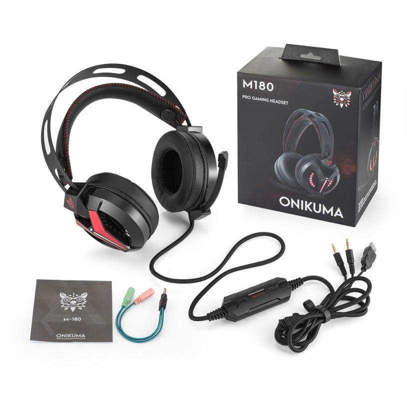 Computer Earphones With Microphone Gaming Headset Over Ear Stereo Bass Gaming Headphone With Noise Isolation Mic Pc Gamer @tw