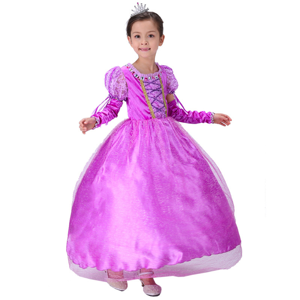 Подробнее о Brand Girls Sofia Dresses With Diamonds Kids Rapunzel Tutu Dress Children Party Cosplay Costumes Girls Princess Dress Christmas cosplay girl dress princess sofia dress children girls costume party dress kids tutu dresses 3 7 years old baby costumes