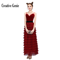 Spaghetti Strap Evening Gown Sleeveless Ankle Knee Velvet Women Evening Dress Wine Red Black Chrismas Long Party Formal Dress