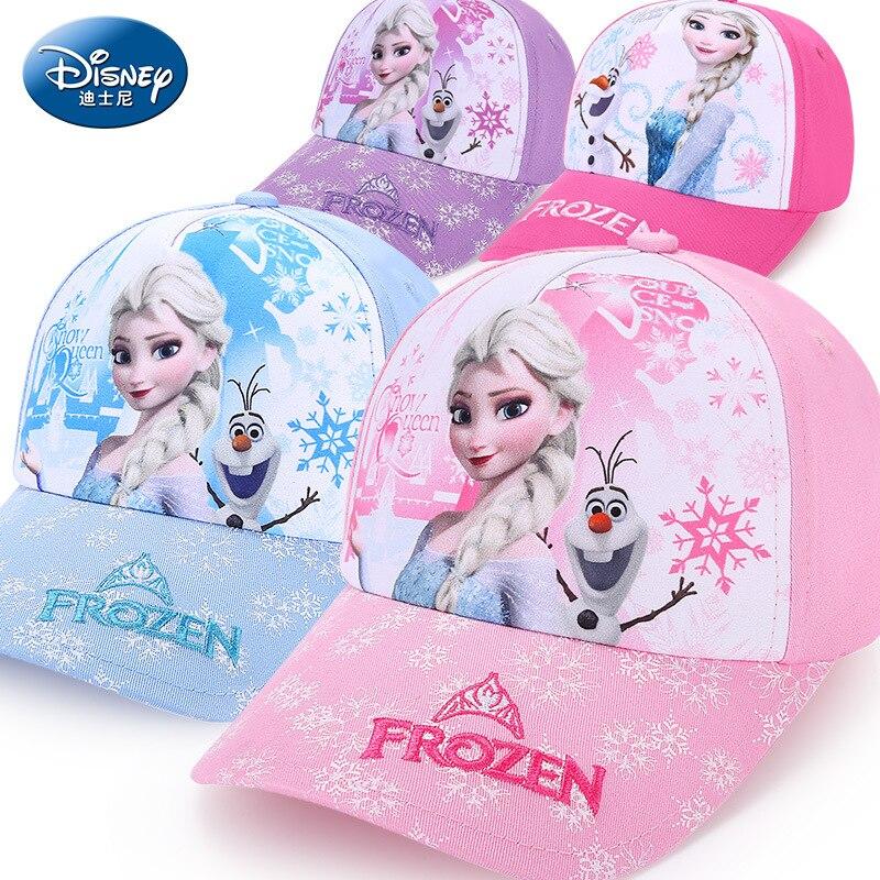 Disney Kinder Hut Gefrorene Mädchen Kappe Mode Cartoon Kinder Hut Im Freien Tragen Baumwolle Einstellbar Atmungs Visier Schatten Baseball Caps