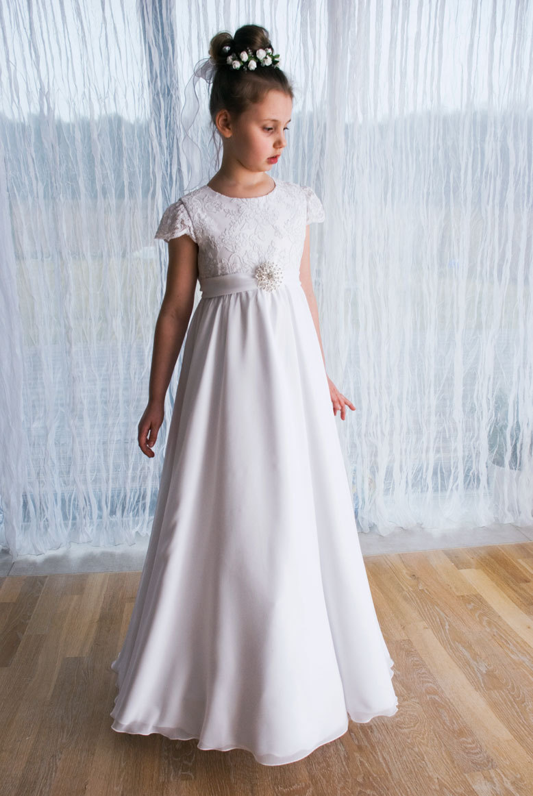 2016 New Wedding Party Formal Flower Girls Dress Appliques