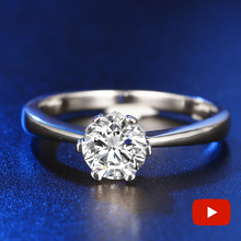 Oh My God So beautiful NOT FAKE Round Cut S925 Sterling Silver Ring SONA Diamond solitaire Fine Ring Unique  Wedding Engagement