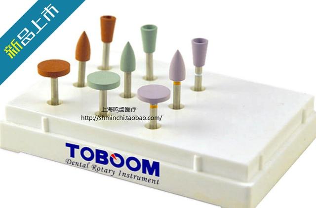 9 Pieces /box Dental Denture Resin Teeth Polishing Kit Excellent Quality