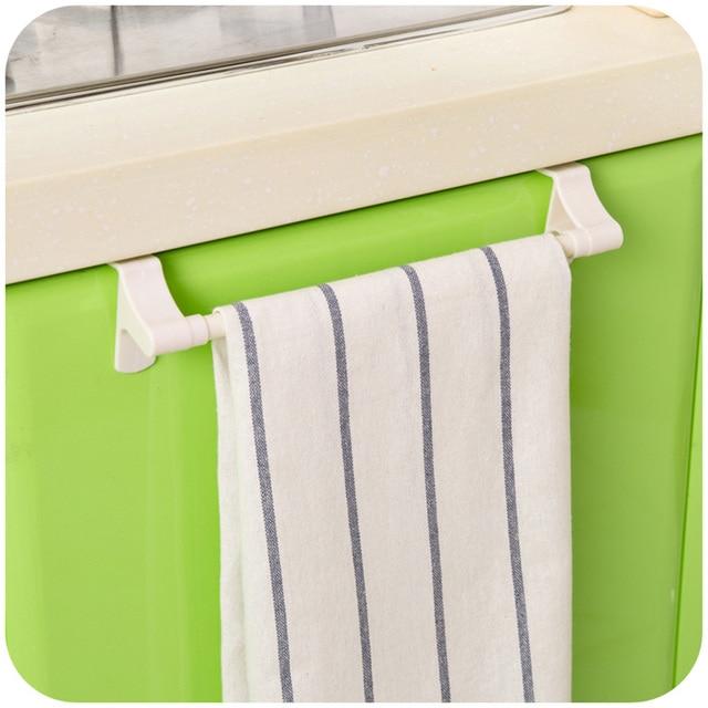 Kitchen Paper Storage Rack Towel Holder Tissue Roll Hanger Under Cabinet Cloths Bar