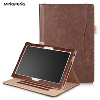 For Lenovo TAB4 10 Plus Case Auto Sleep PU Leather Hand Holder Card Pouch Funda For