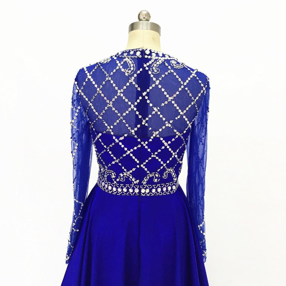 d5a131e6fb1e6 טפטה בד 100% עבודת יד סקסי עיצוב שחור מלכותי כחול מקיר לקיר אורך שמלות נשף  2019 סאטן ...