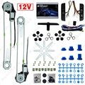Car Auto Universal 3pcs/Set Switches and Harness + 2-Doors Electric Power Window Kits #J-3437