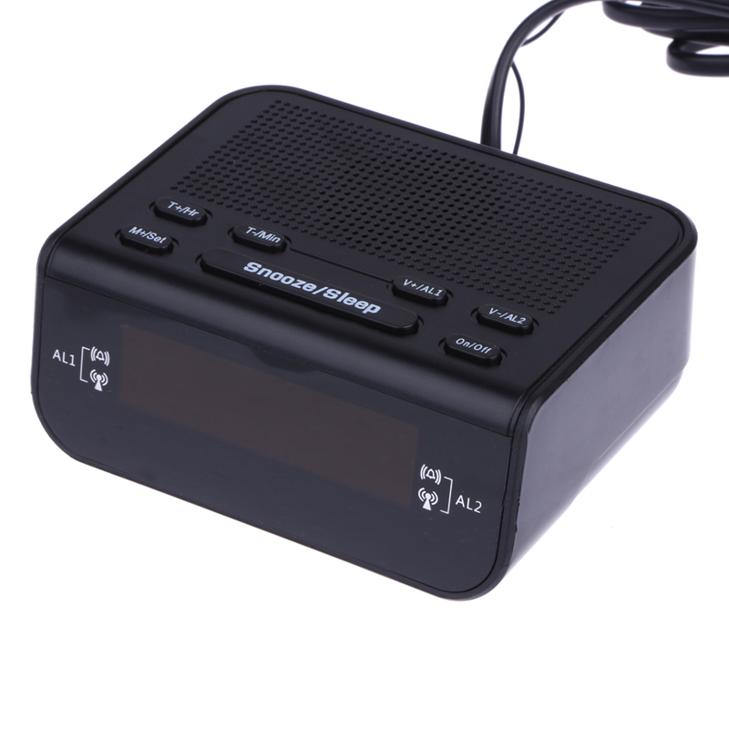 Modern Design Compact Digital Alarm Clock Fm Radio With