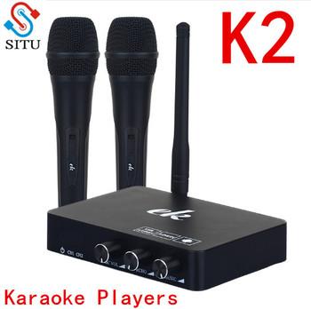 Ręczny bezprzewodowy mikrofon do Karaoke odtwarzacz Karaoke domu Karaoke mikser systemu dźwięk cyfrowy mikser audio śpiew maszyna do K2 tanie i dobre opinie situ