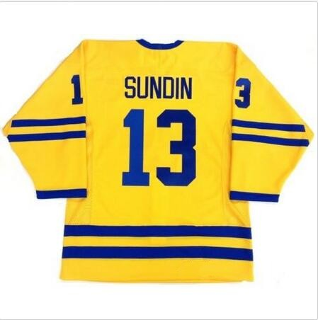 Vintage Team Sweden  13 MATS SUNDIN Huskies Hockey Jersey Embroidery  Stitched Customize any number and name Jerseys-in Hockey Jerseys from  Sports ... eb1abcd63