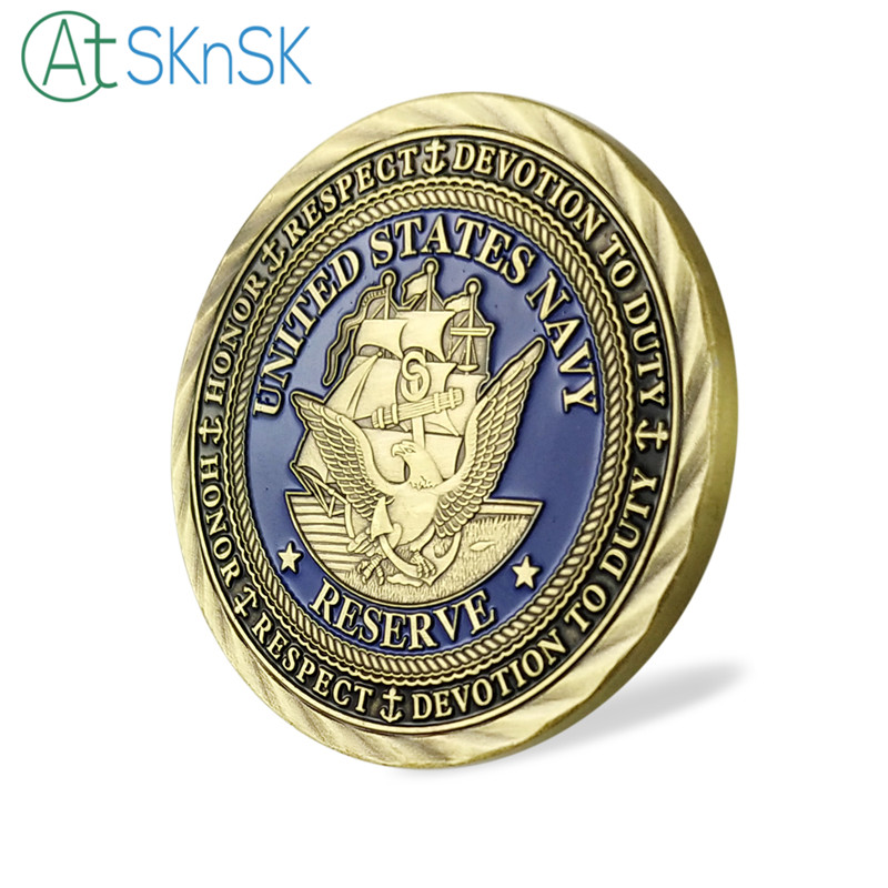 New Arrival 1 10pcs lot The United States Navy Souvenir Coin USN U S Navy Goat Challenge Coins Collection Gifts in Non currency Coins from Home Garden