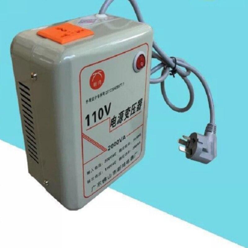 Cuivre pur AC220v à AC110v, transformateur 2000 W