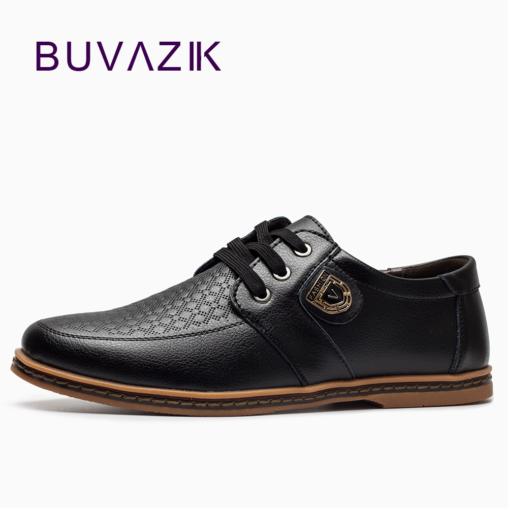 BUVAZIK 2017 big size 46  47 casual shoes men cow leather high quality fashion lace-up flats male genuine leather comfortable zero more fashion men shoes high quality cow suede leather men casual shoes lace up breathable shoes for men plus size 38 49
