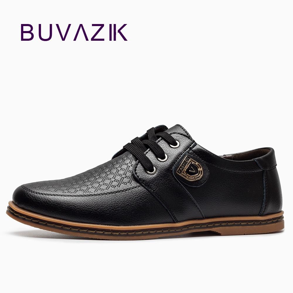 BUVAZIK 2017 stor storlek 46 47 casual skor män ko läder - Herrskor