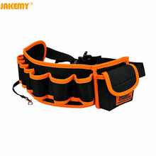 цена на Jakemy JM-B04 Durable Hardware Mechanics Canvas Tool Bag Electrician Canvas Tool Bag Belt Utility Kit Pocket Pouch Organizer Bag