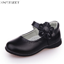 Xinfstreet Girls Shoes Leather Flower Nice Children Princess Shoes