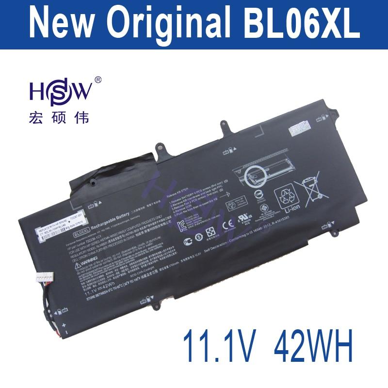 HSW 11.1V 42Wh BL06XL battery for HP Elitebook Folio BL06042XL HSTNN-DB5D HSTNN-W02C 722236-2C1 722236-171 bateria laptop battery for hp bl06xl hstnn db5d 722297 001 722236 171 elitebook folio 1040 g1