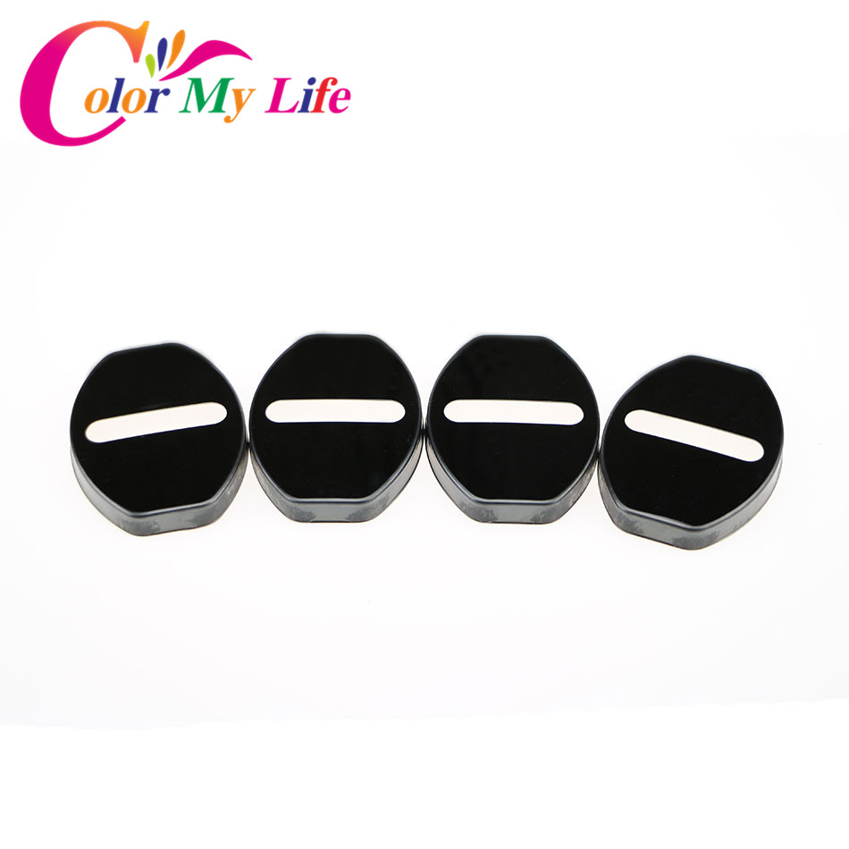 Color My Life Car Styling Car Door Lock Cover Protector <font><b>Sticker</b></font> For <font><b>VW</b></font> <font><b>GOLF</b></font> 5 6 <font><b>7</b></font> Tiguan POLO CC Passat B5 B6 New Jetta Magotan image