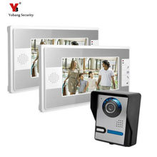Yobang Security Freeship 7 Inch Rainproof Video Intercom Doorbell Video Door Phone Audio Visual Entry Intercom System 2 Monitor