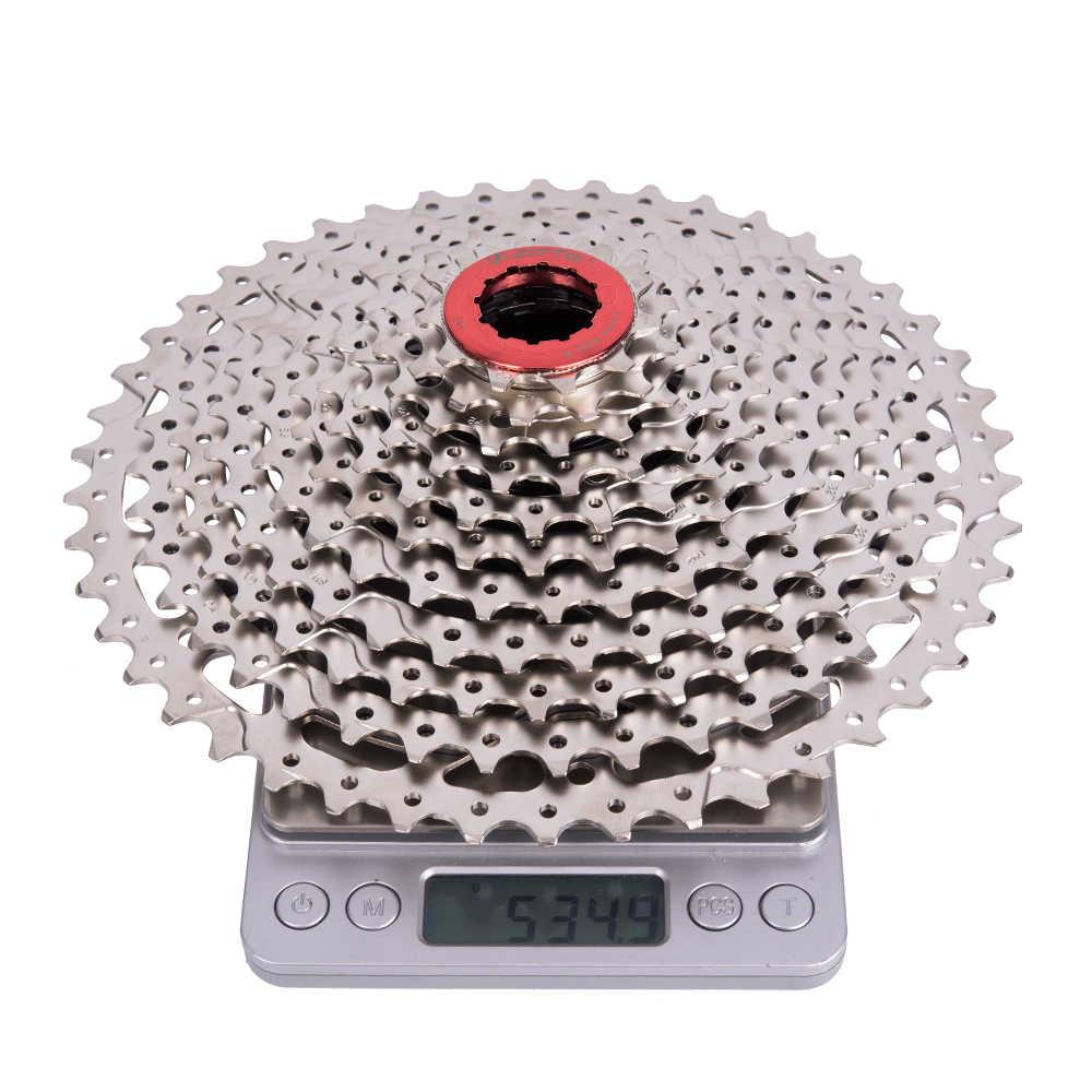 Велосипед ZTTO MTB горный велосипед Запчасти 11 Скорость широкий соотношение кассета 11-46 T для K7 Запчасти M8000 M9000 XT SLX