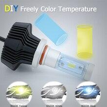 Выделите LED авто фар автомобиля для укладки H8 H9 H11 Hight/низкой освещенности 80WX2 белый/желтый свет замена ксеноновая лампа Время скидка
