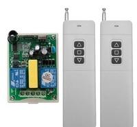 AC 220V 2CH RF 100 3000m Long Range Wireless Remote Control Receiver 2 Transmitter Tubular Motor