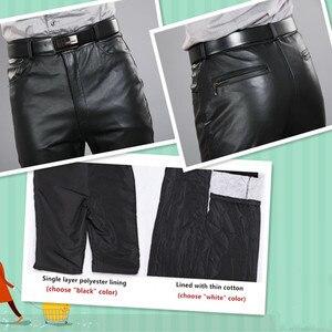 Image 3 - 2020男性本革パンツプラスサイズストレートパンツ男性パンツメンズ正規全身パンツ7XL