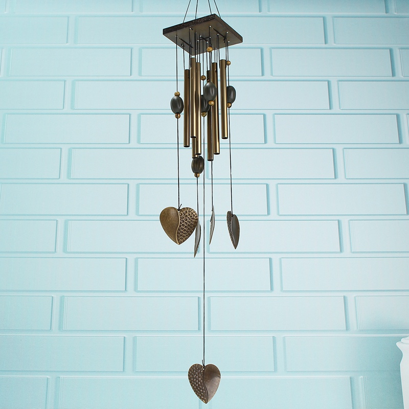 aeProductgetSubject Antique Love Heart Windchimes Wind Chime