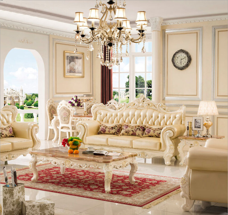 Pleasing Webetop Europe Style Home Furniture Sofa Set Top Grade Cow Dailytribune Chair Design For Home Dailytribuneorg