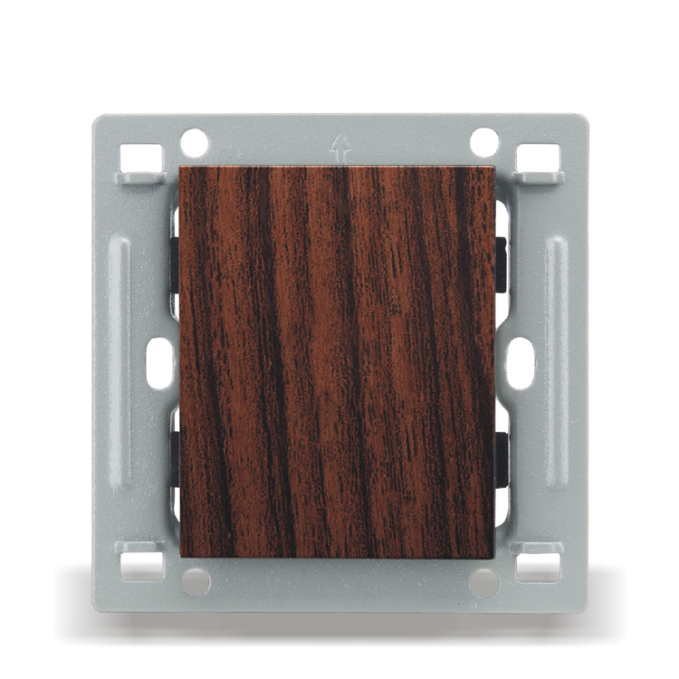Wall Switch Socket Panel 86 European Style Wood Color Blank Panel Cover PC 220V 10A in Switches from Lights Lighting