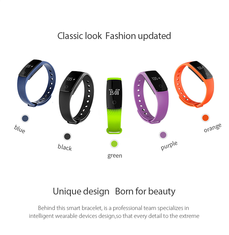 9Tong Bluetooth Wristband Bracelet Fitness Tracker Heart Rate Sleep Monitor Dynamic Pedometer Smartband for IOS Android B0 2