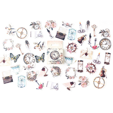 46pcs/pack vintage ancient objects mulifunction paper sticker label decoration for diary album