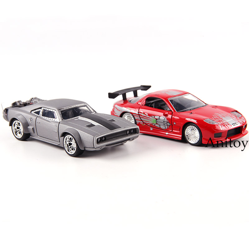 JDM Tuners JADA Fast And Furious Die Cast Toys Subaru WRX STI F-150 SVT GT-R R35 Charger Car Model Metal Diecast Toys Doors Open
