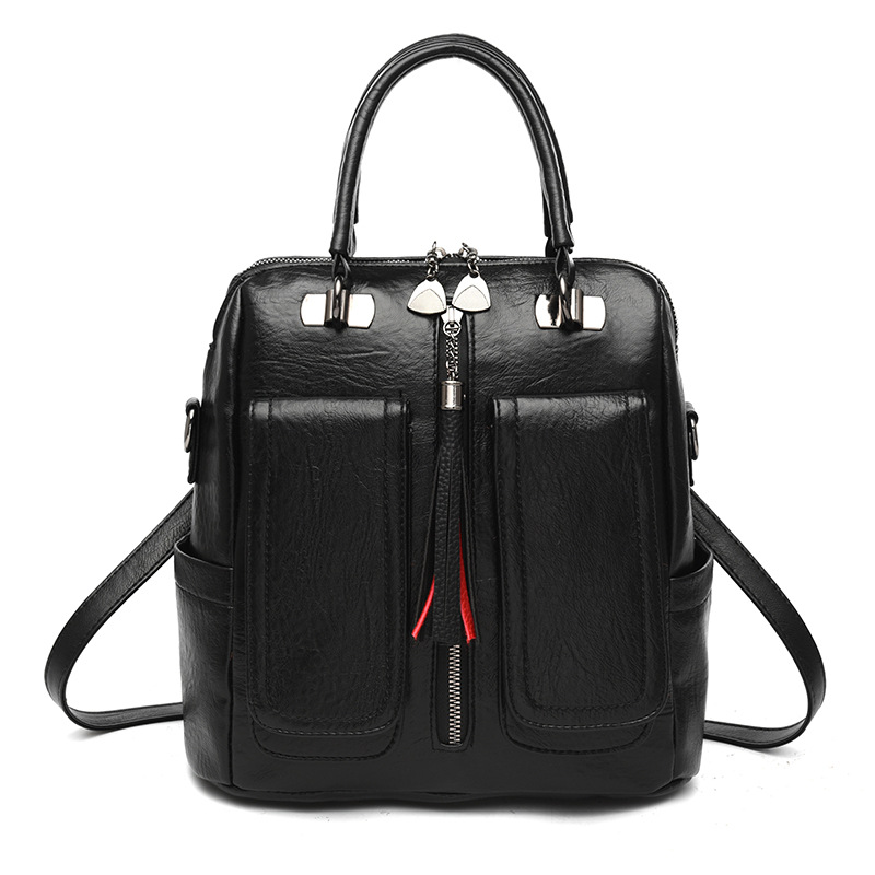 Image 5 - Z.L.D. new Multifunctional female bag Laptop backpack woman pu leather luxury backpack Teenage girl backpack student school bags-in Backpacks from Luggage & Bags