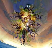 Multi Color Handmade Blown Murano Glass Chandelier Style Ceiling Decorative Modern Art
