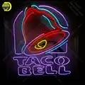 Segno al neon per la Taco Bell Luce al neon Segno illuminato Birra Bar Pub Segno con la scheda Tubi di vetro Artigianale insegne Al Neon riempire di Gas